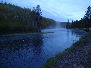 Dawn on the Firehole