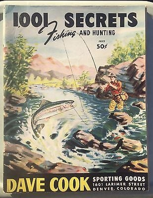 Vintage 1948 Dave Cook Fishing Hunting Sporting Goods Catalog published in 1948, the year the author started fly fishing