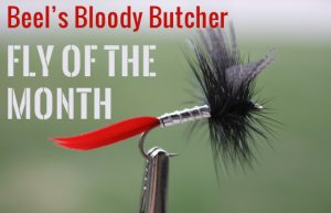 My version of the Bloody Butcher dry fly