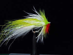 Generic Chartreuse and White baitfish ready to finish head.