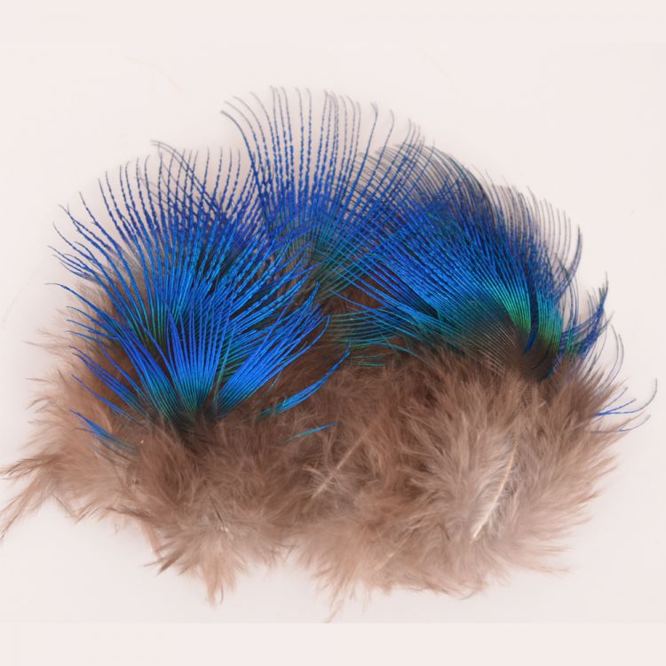 Hareline Blue Peacock Neck Feathers