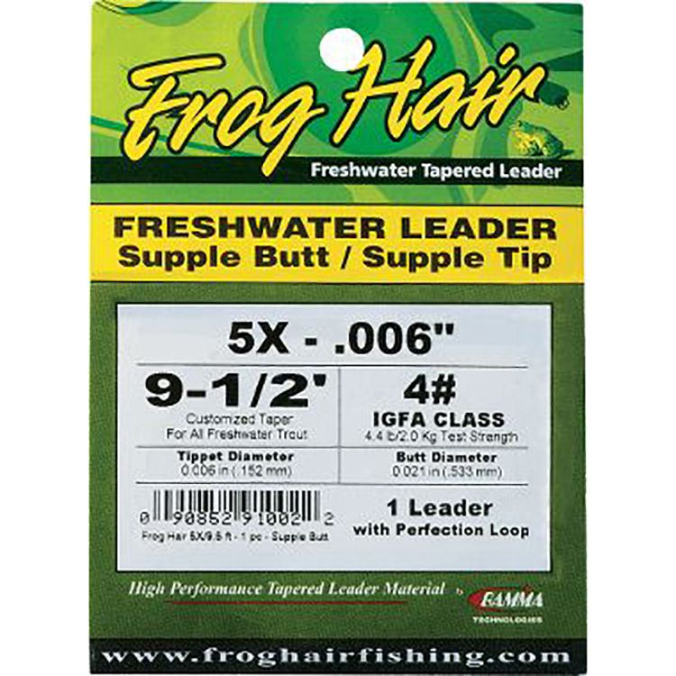 Frog Hair Freshwater Leader - Supple Butt