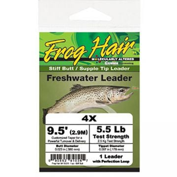 Frog Hair Freshwater Leader - Stiff Butt