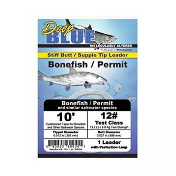 Frog Hair Deep Blue Tapered Leader - Bonefish / Permit