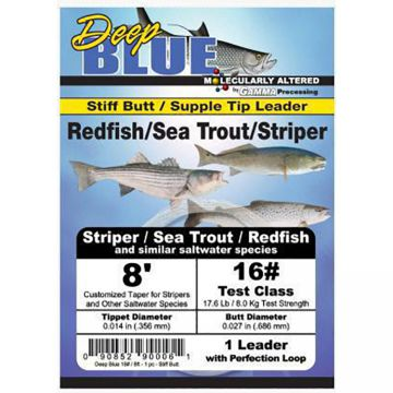 Frog Hair Deep Blue Tapered Leader - Redfish / Sea Trout / Striper