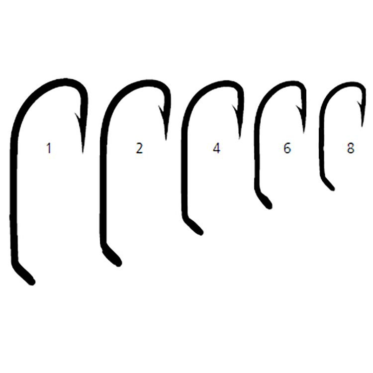 100 pack Mustad Classic 7970-5x Strong Limerick Hook