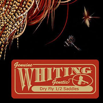 Whiting Farms Dry Fly 1/2 Saddle - bronze
