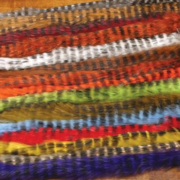 Hareline Barred Rabbit Fur Strips, 1/8""