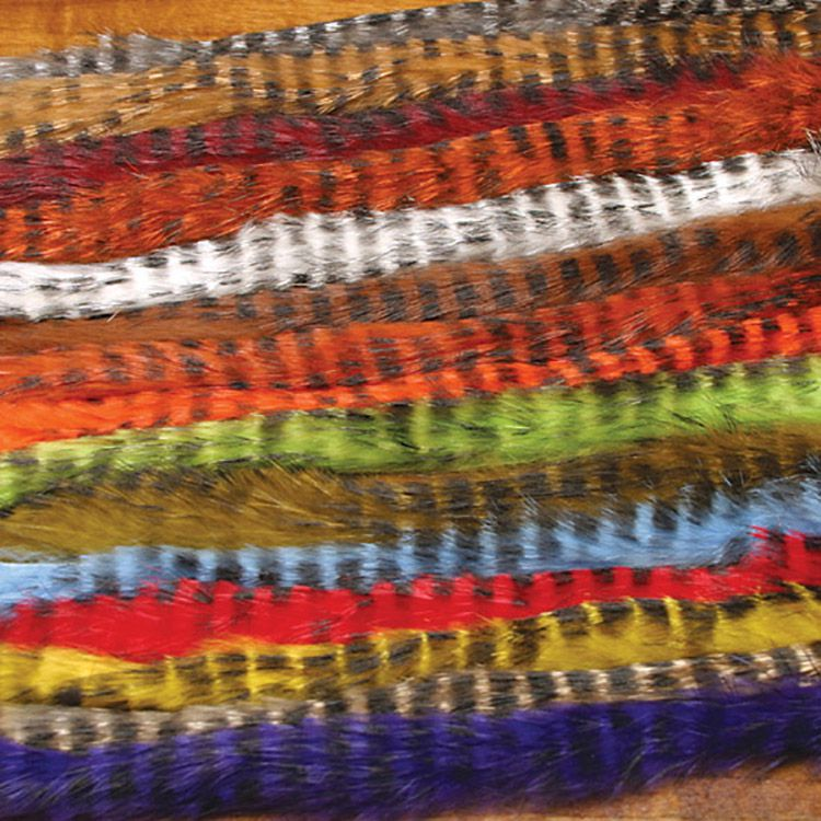 Hareline Barred Rabbit Fur Strips, 1/8