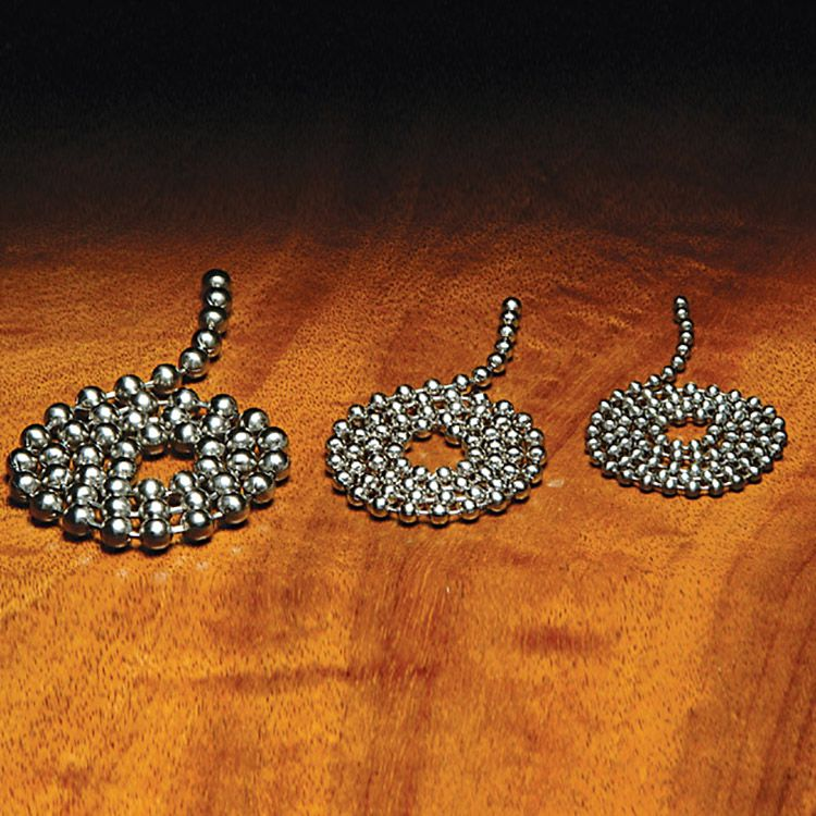 Hareline Stainless Steel Bead Chain Eyes