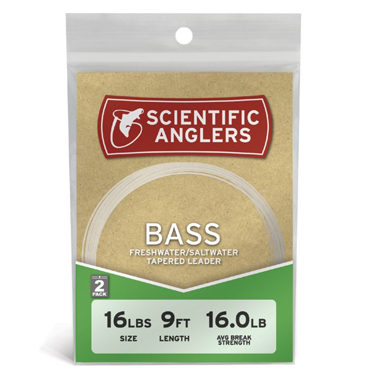 Scientific Anglers Bass Leaders - 2 Pack