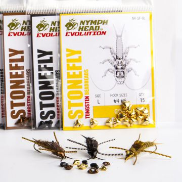 Nymph-Head Evolution Tungsten Beadheads - stonefly