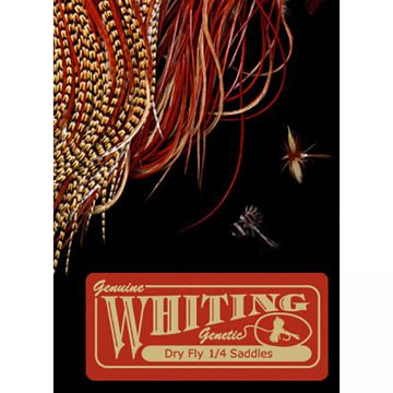 Whiting Farms Dry Fly Midge 1/4 Saddle - bronze _D_