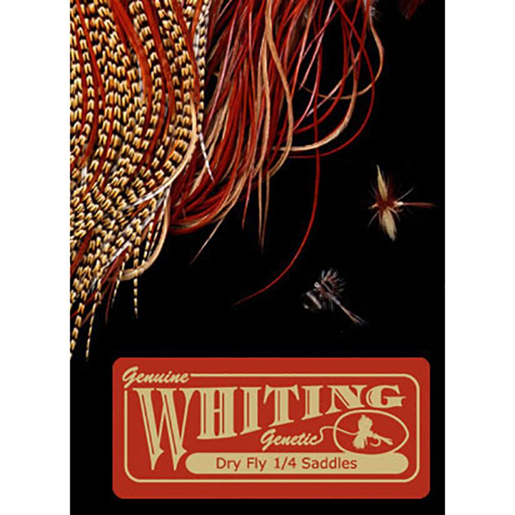 Whiting Farms Dry Fly Midge 1/4 Saddle - bronze