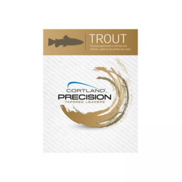 Cortland Line Precision Trout Leader - 9 ft. - 3 pack