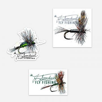 J. Stockard Signature Fly Sticker 3-Pack