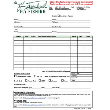 J. Stockard Order Form