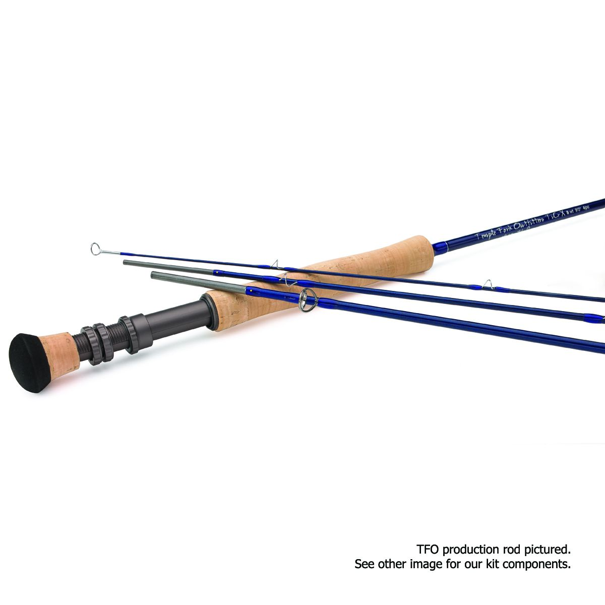 Temple Fork Outfitters TiCr X Fly Rod Kit - 4 pc - 9'