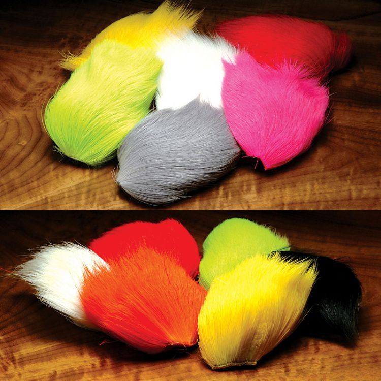 Hareline Deer Belly Hair Dyed Over White