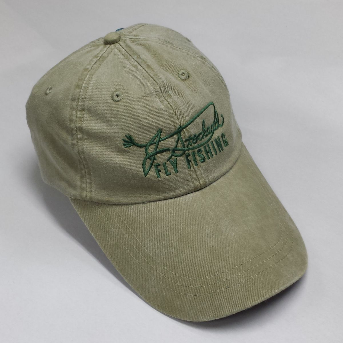 J stockard signature long bill fishing cap olive j for Long bill fishing hat