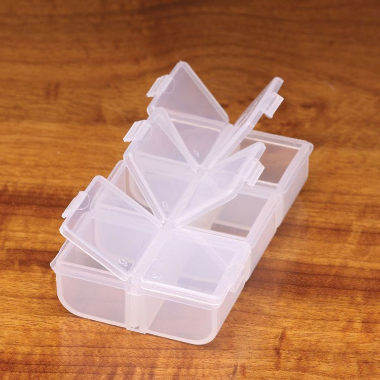 Wapsi Flip Cap 6 Compartment Box