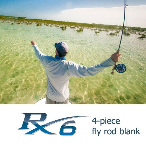 Rainshadow RX6 Fly Rod Blank 4 pc