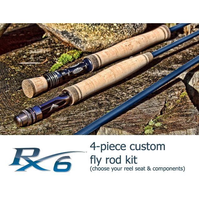 Rainshadow RX6 Fly Rod Building Kit - 4 piece