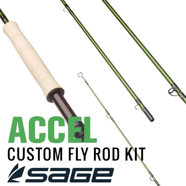 Sage mfg accel fly rod building kit 4 piece j for Fishing rod building kits