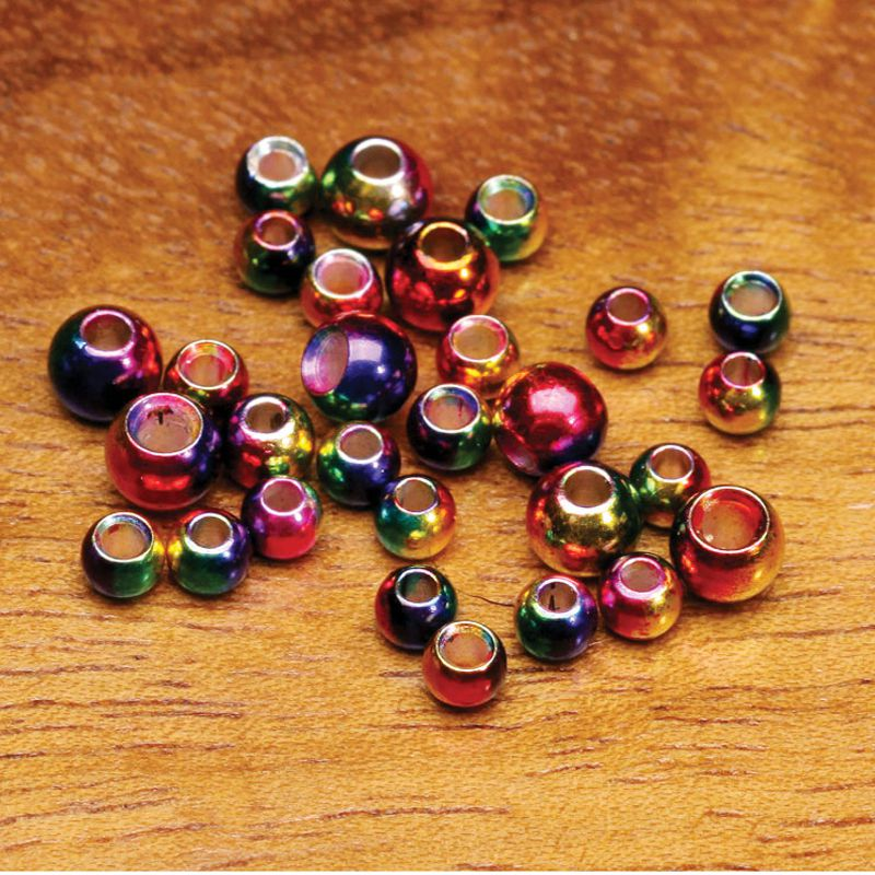 Hareline Rainbow MultiHued Brass Beads